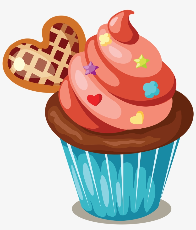 Cupcakes clipart image library Cupcake Icing Birthday Cake Muffin Clip Art - Cakes And Cupcakes ... image library