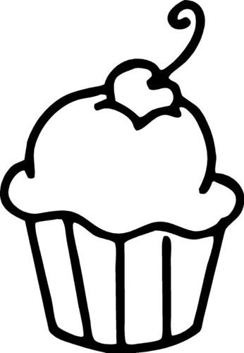38+ Black And White Cupcake Clipart   ClipartLook picture black and white library