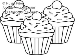 Cupcake Clipart Black And White   Clipart Panda - Free Clipart Images clipart black and white stock