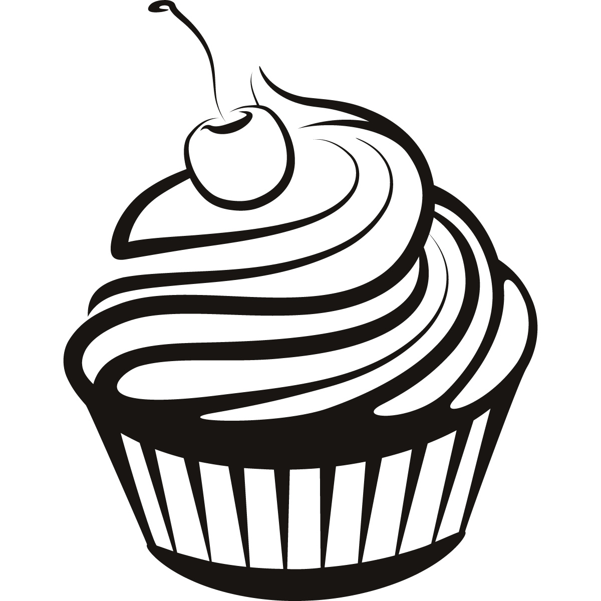 Cupcake black and white cupcake drawings and cupcakes clipart ... clip art free download