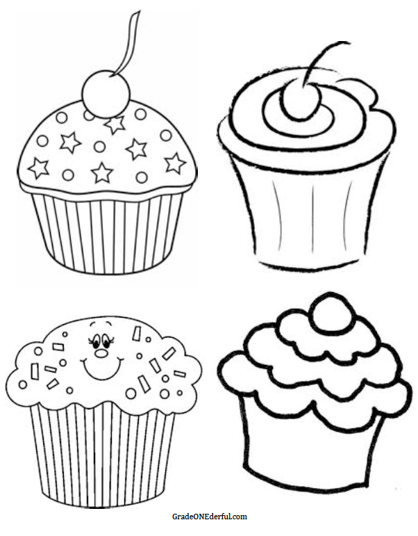 46+ Black And White Cupcake Clipart   ClipartLook jpg library stock