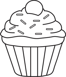 Cupcake Clipart Black And White   Clipart Panda - Free Clipart Images vector royalty free