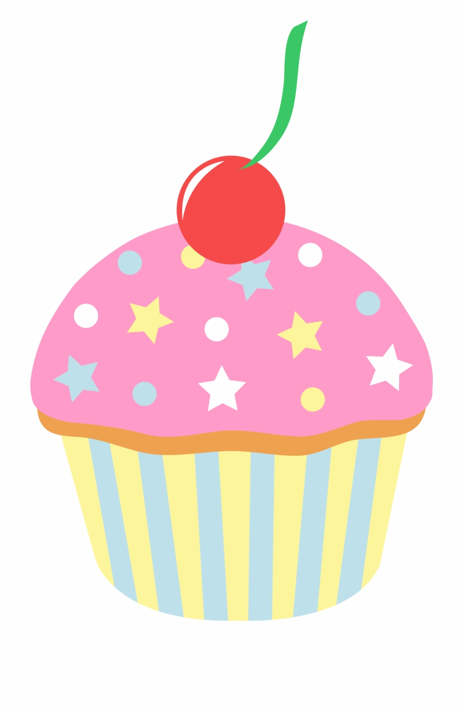 Cupcakes white icing with red sprinkles clipart image free download Vector Black And White Library Cupcake With Sprinkles - Cartoon ... image free download