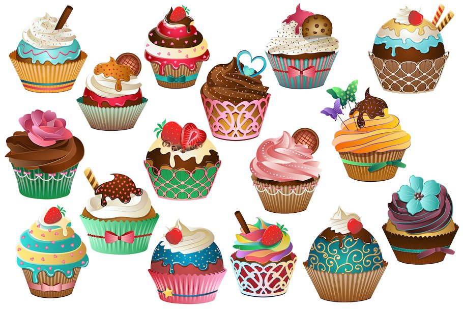 Cupcakw clipart clip art royalty free download Cupcake Clipart Vector, PNG & JPG clip art royalty free download