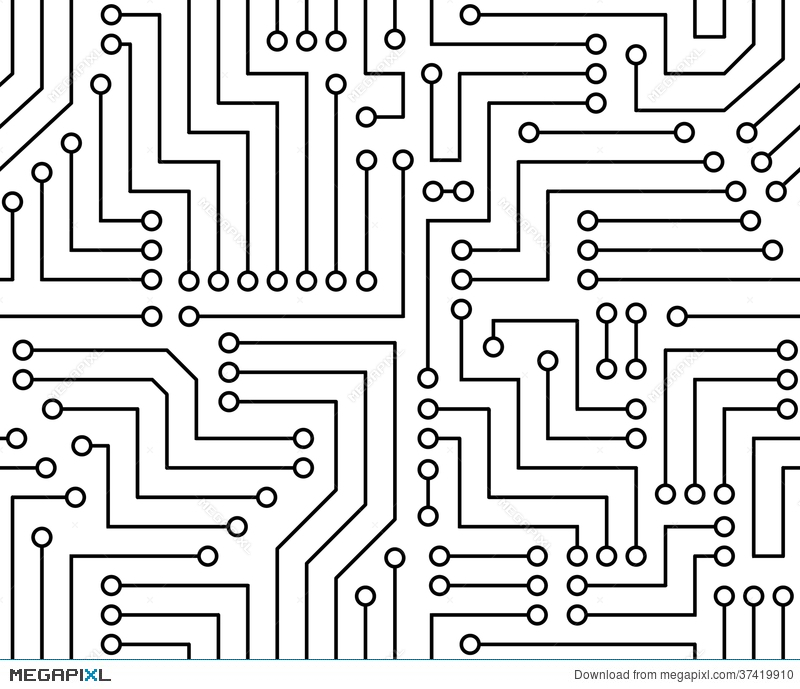 Curcuit board clipart png freeuse Black and white printed circuit board illustration megapixl ... png freeuse