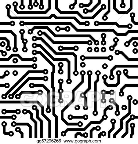 Curcuit board clipart graphic free stock Stock Illustration - Seamless texture - circuit board ... graphic free stock