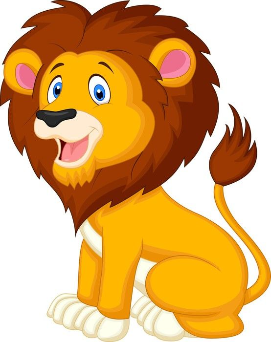 Curelion clipart graphic free Cute lion cartoon Wall Mural • Pixers® - We live to change ... graphic free