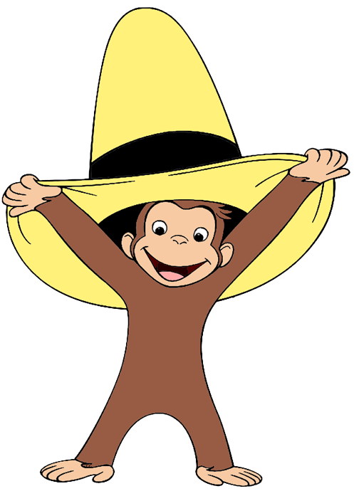 Curious george book clipart