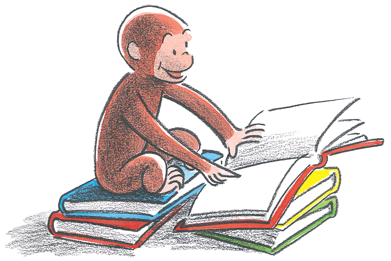 Monkey reading a book clipart free download Curiosity Day 2017 - Curious George free download