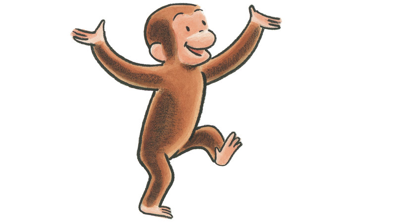 Curious george sledding clipart black and white clip art freeuse stock Curious George Celebrates 75 Years Of Monkey Business : NPR clip art freeuse stock