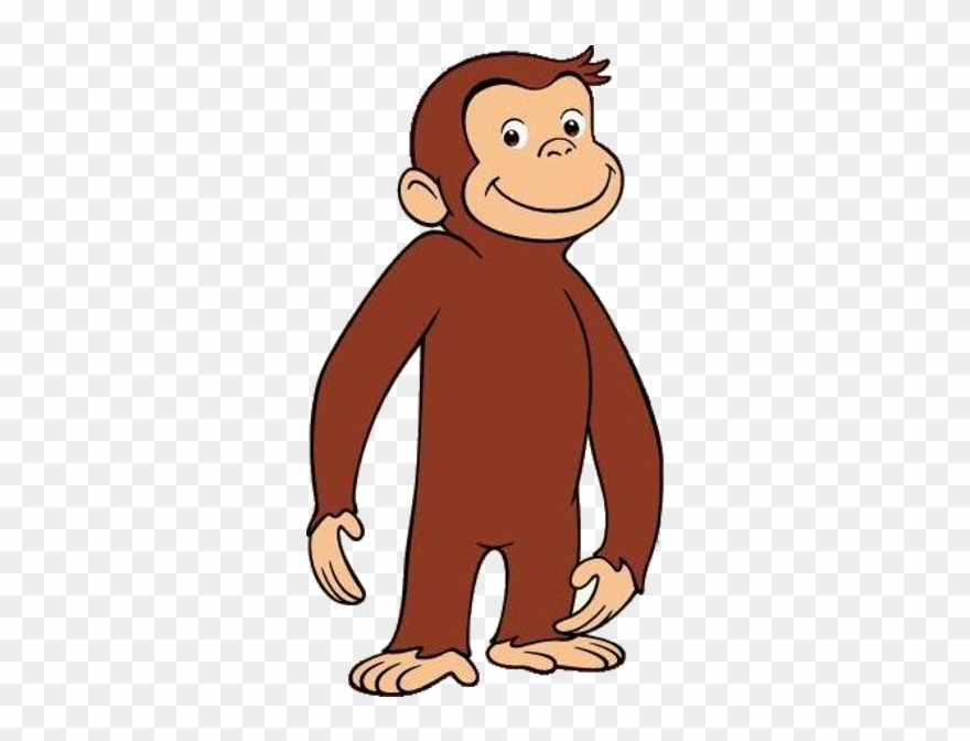 Curious george sledding clipart black and white graphic black and white download Youtube Animation Clip Art - Curious George Full Body - Png ... graphic black and white download