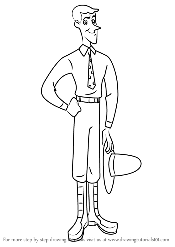 Curious george yellow hat man clipart black and white clip Learn How to Draw The Man with the Yellow Hat from Curious ... clip