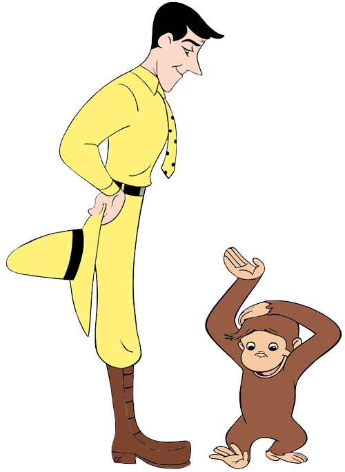 The man in the yellow hat clipart png free download Curious George Clip Art | Cartoon Clip Art png free download