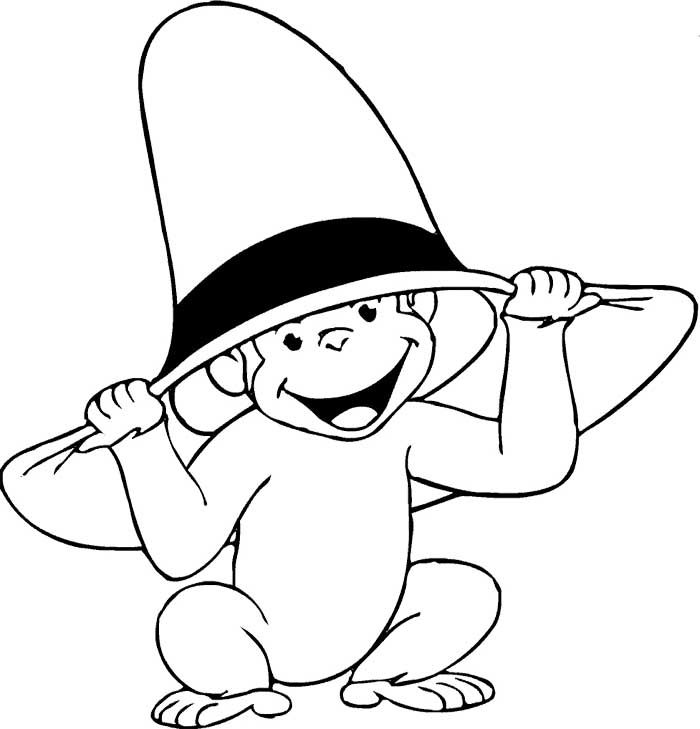Curious george yellow hat man clipart black and white graphic library download Free Curious George Clipart, Download Free Clip Art, Free ... graphic library download