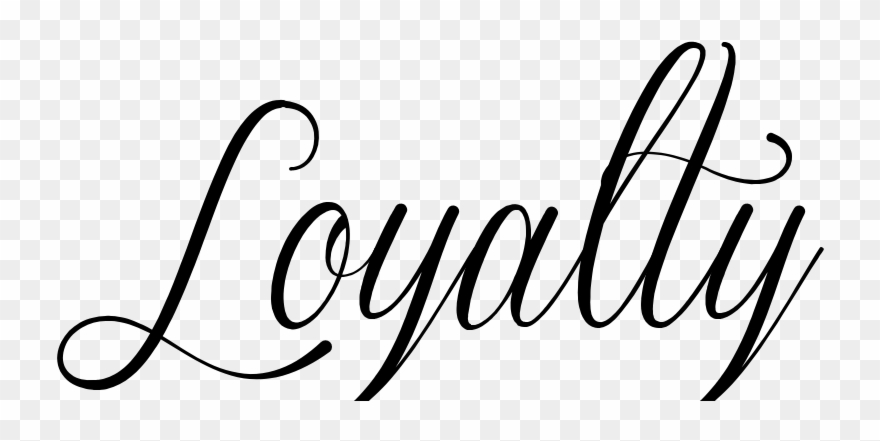 Cursive Drawing Cute - Loyalty In Cursive Font Clipart ... png library download