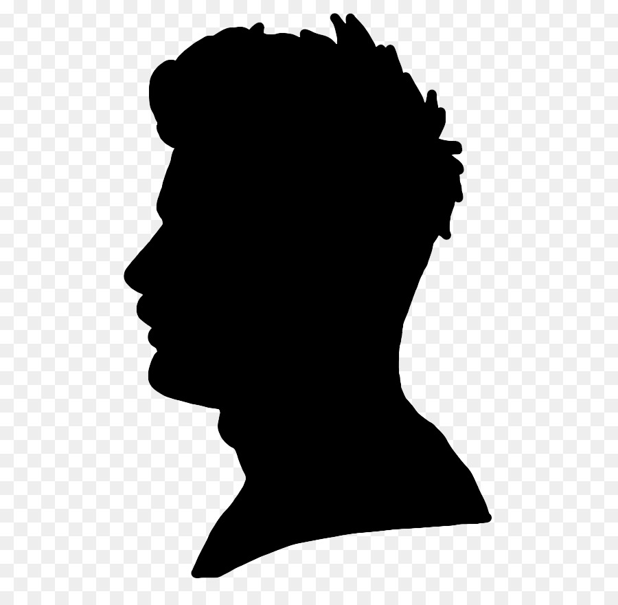 Curly hair boy black and white silhouette clipart graphic library library Hair Cartoon png download - 684*866 - Free Transparent ... graphic library library