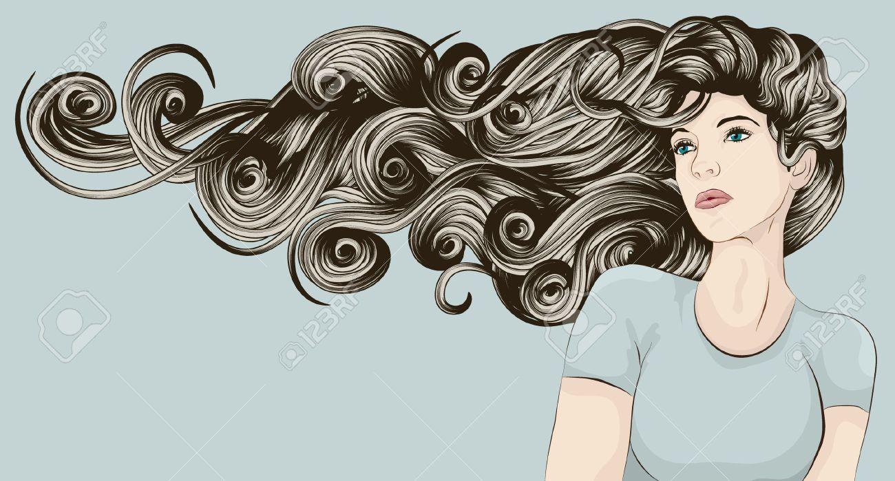 Curly hair girl clipart qith face paint clip art black and white download Curly hair girl clipart with face paint - Clip Art Library clip art black and white download