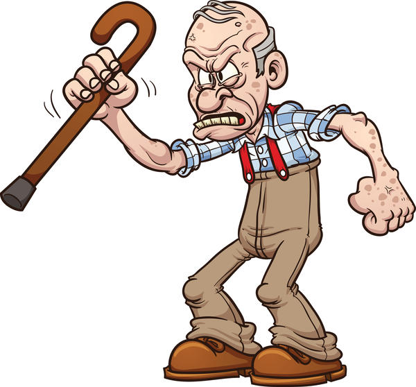Curmudgeon clipart vector freeuse Get Off My Lawn! And Other Grumblings About Sports Today ... vector freeuse