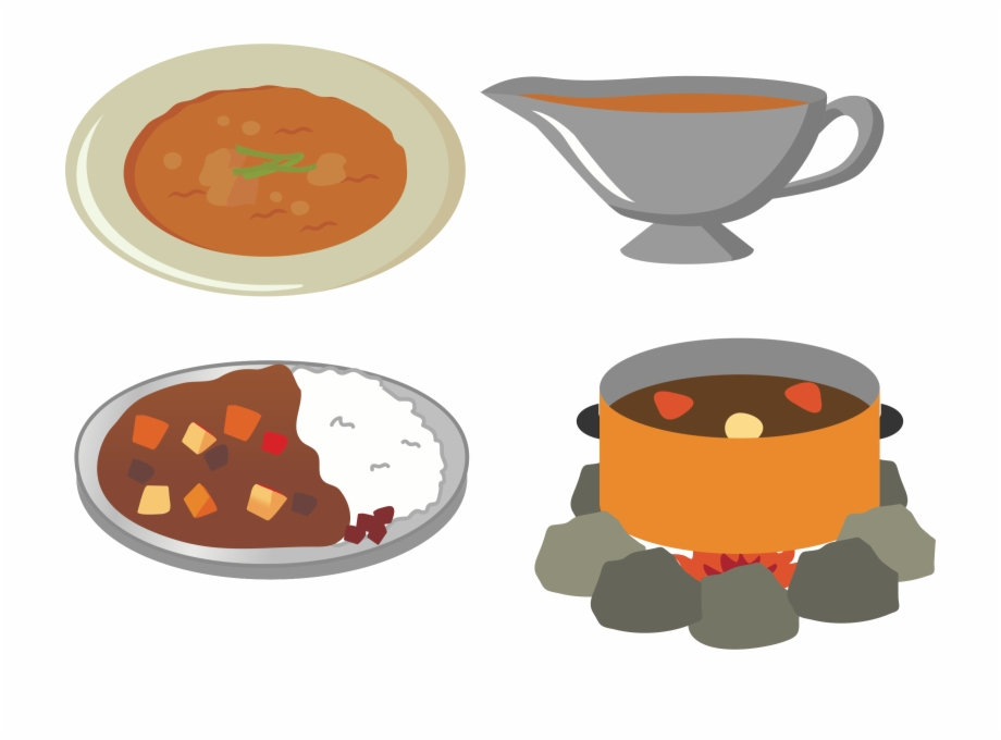 Japanese Food Clipart Coffee - Curry Rice Food Clipart ... vector download