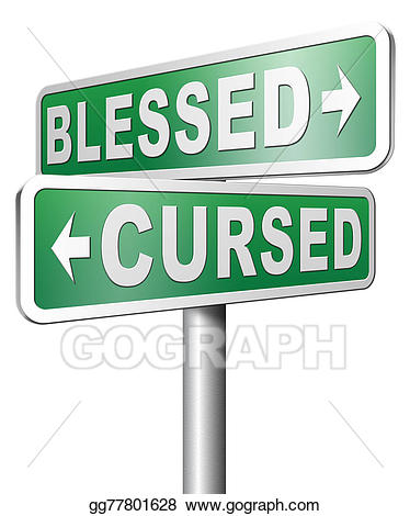 Cursed clipart clip art freeuse Stock Illustrations - Blessed or cursed good or bad luck ... clip art freeuse