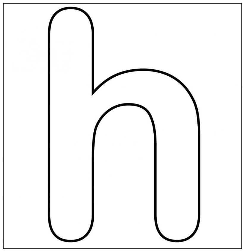 Cursive h lowercase clipart black and white stock Letter h templates clipart - ClipartFox black and white stock