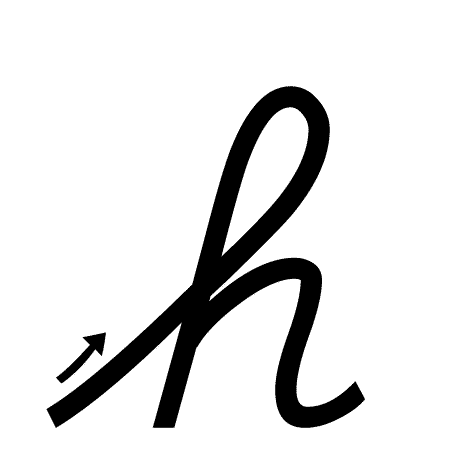Cursive h lowercase clipart picture royalty free download Lowercase h Handwriting Worksheet (trace 1, write 1) picture royalty free download