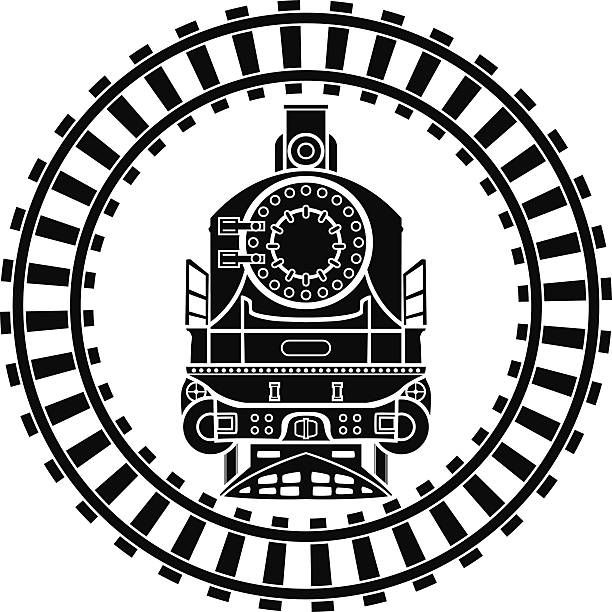 Image result for curved train track clipart | Trains in 2019 | Train ... graphic black and white library