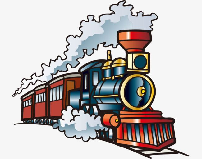 Curve railroad royalty clipart free png clip art library library Hand-painted With Cartoon Train, Cartoon Vehicles, Hand Painted ... clip art library library