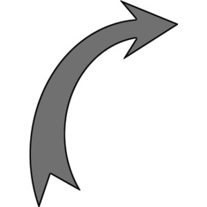 Curved arrow black and white clipart vector library download Rounded Arrows Up-Right -- FastFreeImages.com Free Clipart I ... vector library download