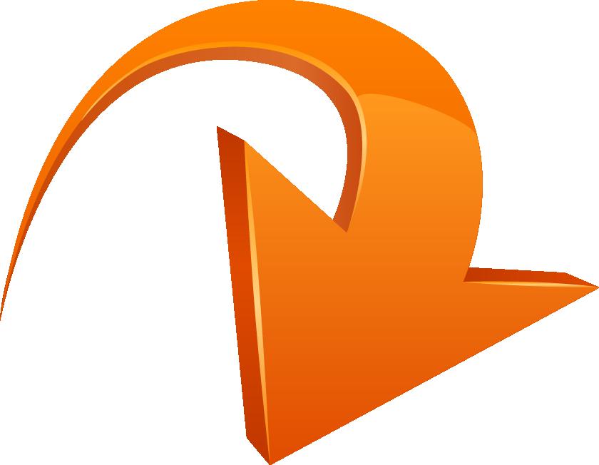Curved arrow clip art picture free download Curve Arrow Clip art - Three-dimensional geometric arrow 840*652 ... picture free download