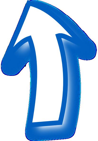 Curved arrow clip art blue
