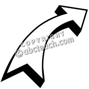 Clipartfox clip art right. Curved arrow clipart black and white