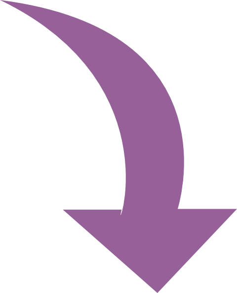 Curved arrow to left clipart. Vector kid purple clip