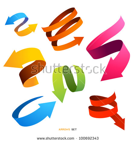 Stock images royalty free. Curved arrow to left clipart