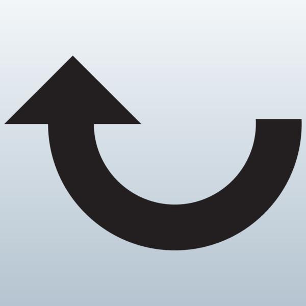 Curved arrow to left clipart. Clipartfest purple