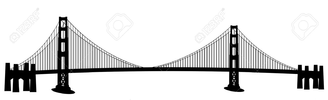 Curved bridge clipart black and white banner royalty free download Bridge clip art free clipart images 7 - Cliparting.com banner royalty free download