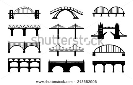 Curved bridge clipart black and white stock Bridge Clip Art Black And White (86+ images in Collection) Page 2 stock