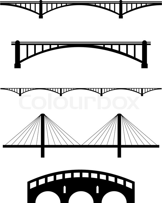 Curved bridge clipart black and white jpg Collection of 14 free Bridge clipart vector aztec clipart vintage ... jpg