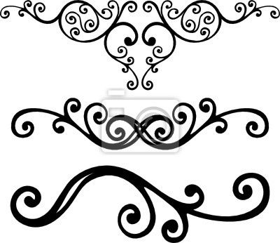 Curved line design clipart png jpg transparent stock Sticker floral lines - clip art - corner • PIXERSIZE.com | Baroque ... jpg transparent stock