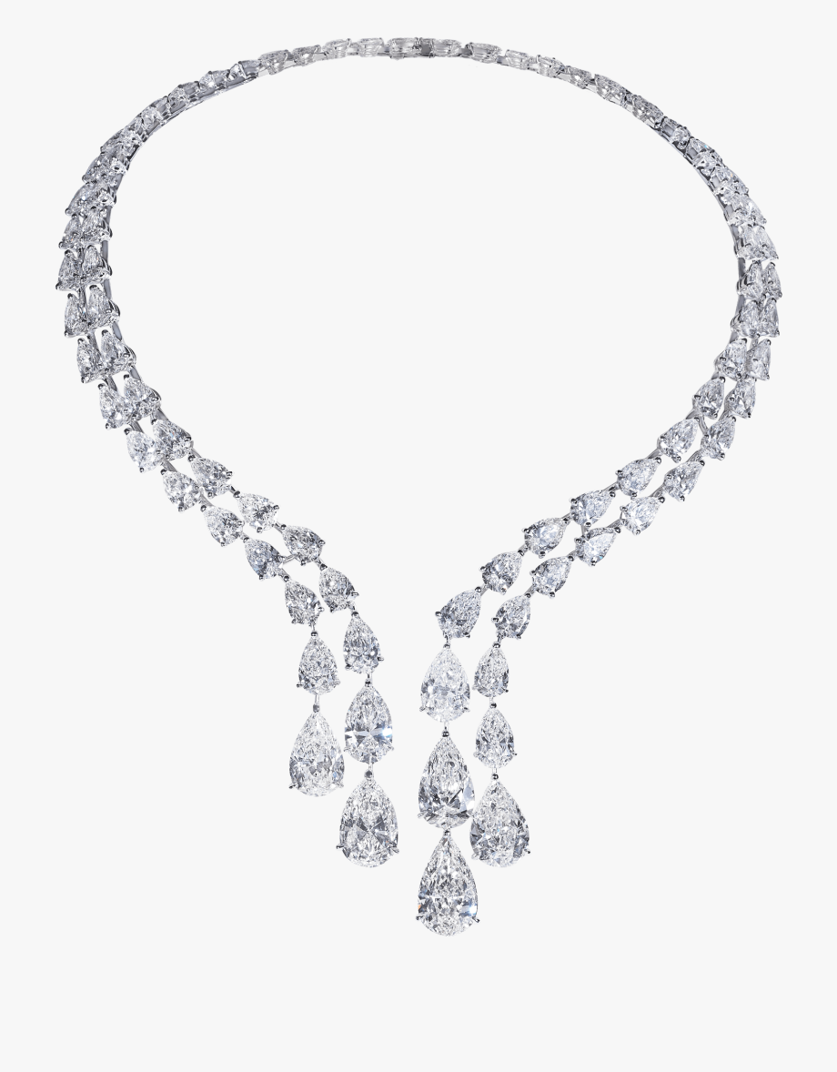 Curved Path Diamond Necklace - Diamond Necklace Jewellery Png ... image free