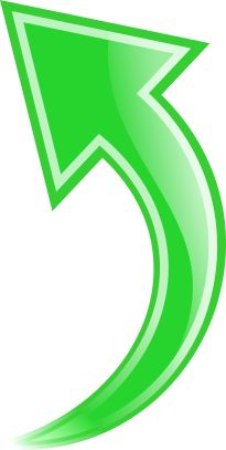 Green down ukazateli pinterest. Curved right arrow sign clipart