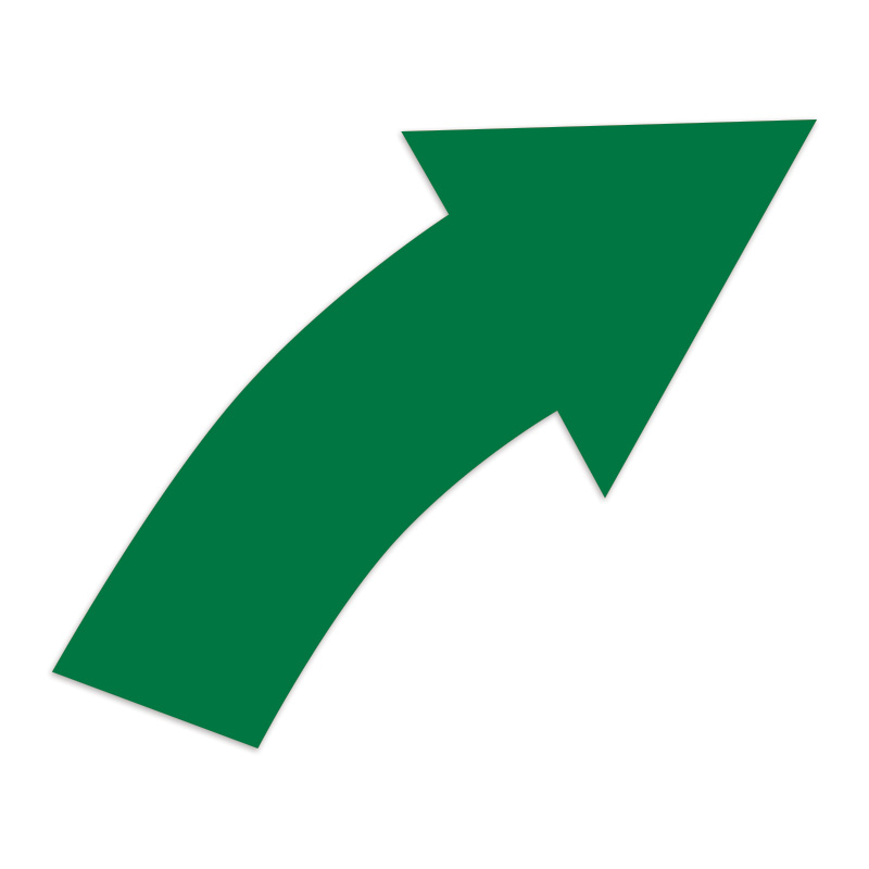 Curved right arrow sign clipart. Images green arrows inch