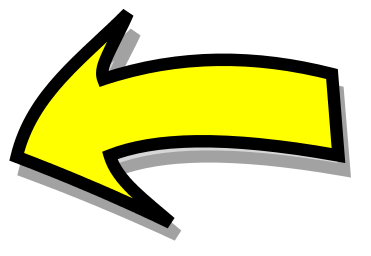 Yellow arrows kid comic. Curved right arrow sign clipart