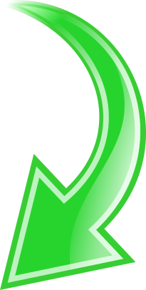 Curved right arrow sign clipart. Green down ukazateli pinterest