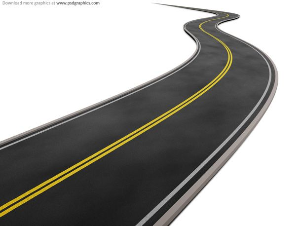 Curved road clipart vector library stock Curved road on white background | photoshop | Highway road, Clip art ... vector library stock