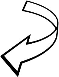 Curved tribal arrow clipart black and white clip royalty free stock Curved Arrow Clipart - Clipart Kid | arrows | Pinterest | Kid and ... clip royalty free stock