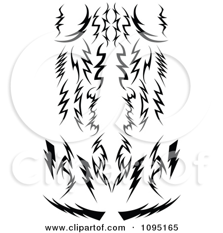 Curved tribal arrow clipart black and white picture royalty free stock Clipart Black And White Tribal Lightning Bolts Arrows And Designs ... picture royalty free stock