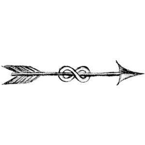 Curved tribal arrow clipart black and white vector freeuse stock Arrows and other signs - Polyvore vector freeuse stock