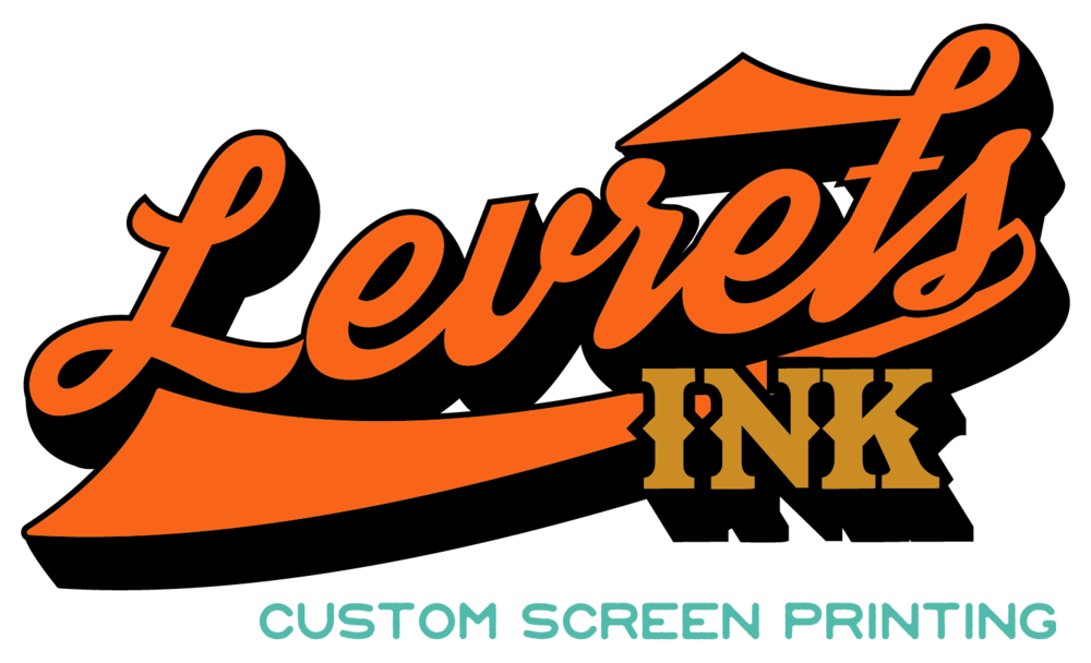 Levrets screen printing logo. Custom ink clipart basketball shooting
