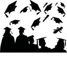Customary clipart picture royalty free stock Graduation Black And White Clipart Customary Of Mortarboard ... picture royalty free stock